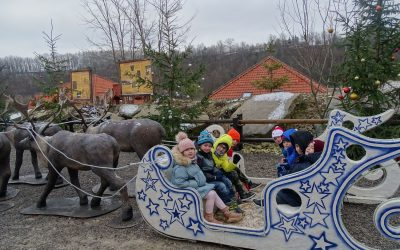 Visiting Santa's Village in Bałtów